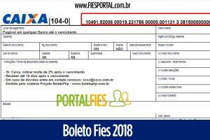 Boleto Fies 2018