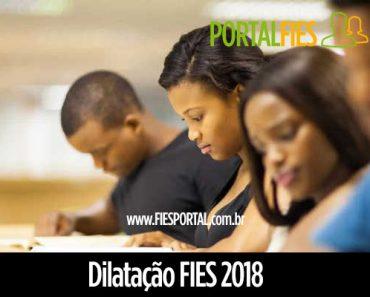 Dilatação FIES 2018