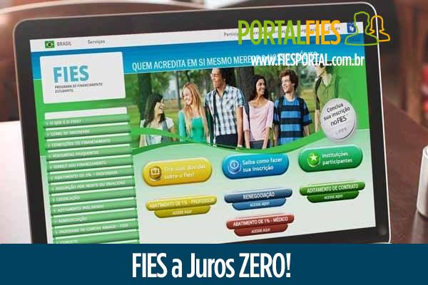 FIES a Juros Zero