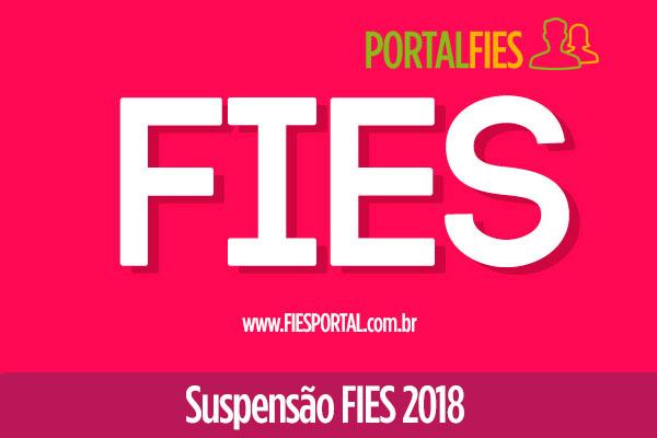 Suspensão Fies 2018