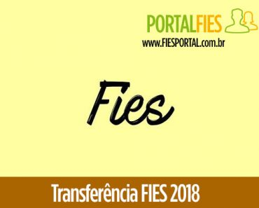 Transferência FIES 2018